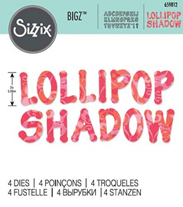 Sizzix Bigz Alfabeto Set di Fustelle, Lollipop Shadow Lettere Maiuscole - 3