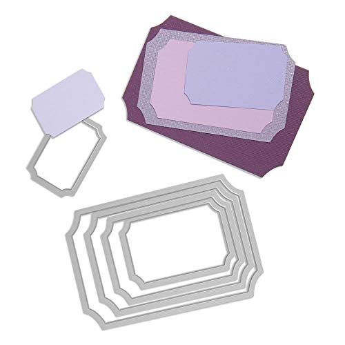 Sizzix Framelits Fustelle Set di 5 Pezzi, Biglietti - 1