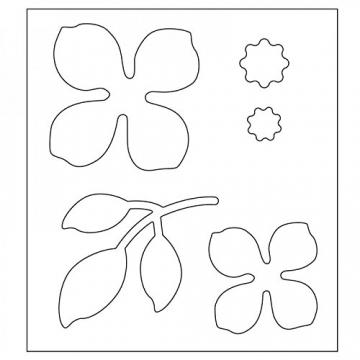 Sizzix Thinlits Fustella, Fiore Asiatico - 2