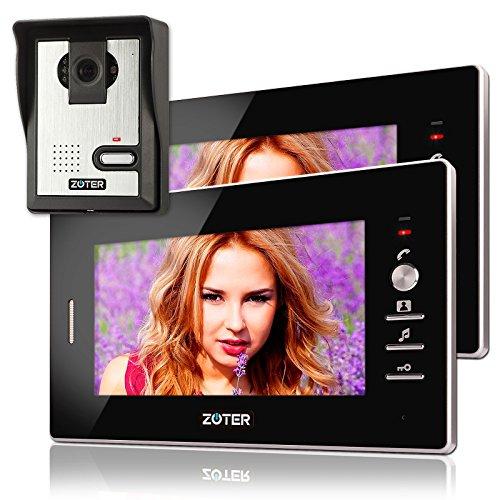Soter sicurezza® Cavo 17,8cm pollici LCD videocitofono citofono 600TVL W monitor con 2ingresso kit sistema - 1