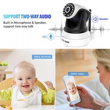 Sricam Ultima Versione SP017 Telecamera WiFi Interno di Sorveglianza 1080P Wireless IP Camera, Obiettivi Ruotabile, Audio Bidirezionale, Modalità Notturna a Infrarossi, Compatibile con iOS Android PC - 4