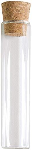 STOCK 50 PEZZI Portaconfetti porta confetti provetta in vetro con tappo in sughero - 1