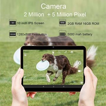 Tablet 10.1 Pollici 3G/WiFi YOTOPT - Android 7.0, Quad-core, RAM 2 GB, Memoria interna 16 GB, Bluetooth/ GPS/OTG -Nero - 2