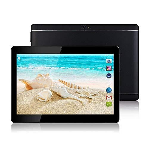"""Tablet Android - Schermo da 10"""", Octa-Core, RAM 4 GB, ROM 32 GB, Fotocamera, WIFI, GPS, Due slot per schede SIM, Tablet Cellulare con 3G sbloccato (Nero) - 1"""