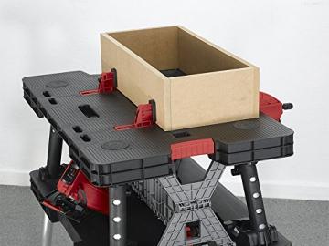 Tavola di lavoro multifunzione richiudibile portatile KETER con 2 morsetti colore: nero - 3