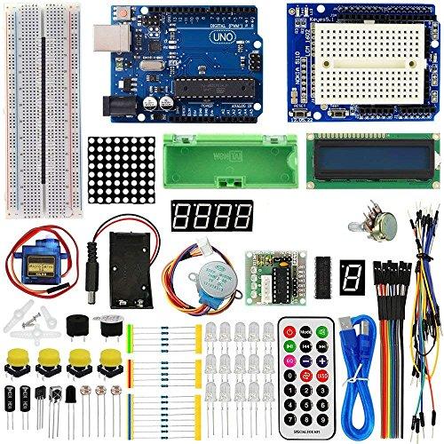 TBS2650 - Advanced Arduino Starter Kit - con scheda UNO R3 - con guida e lezioni con foto - 1