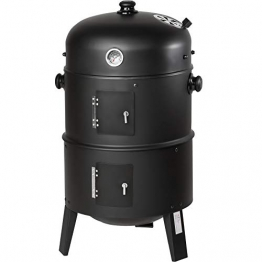 TecTake BBQ BARBECUE SMOKER A CARBONELLA - modelli differenti - (3in1 BBQ SMOKER (400820)) - 1