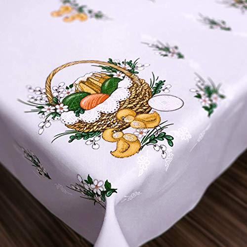 """Tovaglia di Pasqua Happy pollo e uova, Poliestere, White, 43"""" (110cm) x 59"""" (150cm) - 1"""