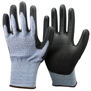 Unisex nero e blu Anti Tagliare Livello 5 (più alto) Guanti. CE certificato, ideale per i giardinieri, lavoro, bricolage, costruttori, elettricisti e idraulici. (Grandi EU 10) - 1