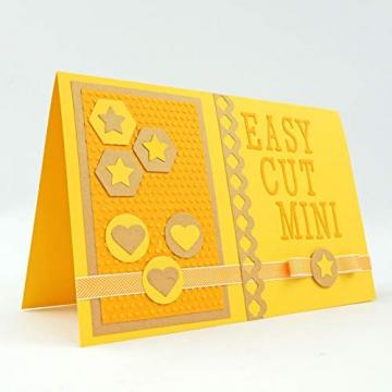 Vaessen Creative Mini Fustellatrice e Macchina per Goffratura Starter Kit, Bianco/Rosa, 12.5 x 21 x 9.5 cm - 4