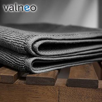 valneo Scendibagno in Puro Cotone Grigio, 50x70cm di Prima qualità 800 g/m² - Tapetino per Bagno, Tappeto da Doccia - 4