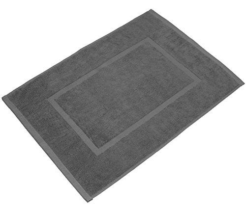 valneo Scendibagno in Puro Cotone Grigio, 50x70cm di Prima qualità 800 g/m² - Tapetino per Bagno, Tappeto da Doccia - 1