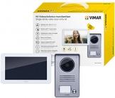 Vimar K40915 Kit Videocitofono Touch Screen Monofamiliare con Alimentatore Multispina, Grigio la Targa Esterna-Bianco Il Monitor - 1