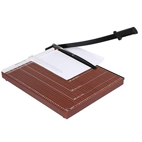 Voluker Taglierina A3 ,Taglierina per carta,Taglierina professionale,Paper cutters,Taglierina a Leva,Base di legno,48,5 x 38,5 x 3,3 cm - 1