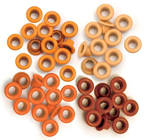We R Memory Keepers Occhielli per Scrapbooking, Arancione, Standard - 1