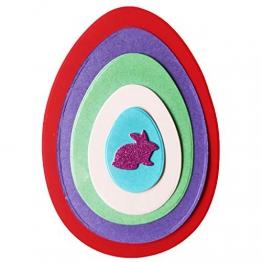 Xurgm - Set di Fustelle a Forma di Pasqua con Lepre, 5 Pezzi - 1