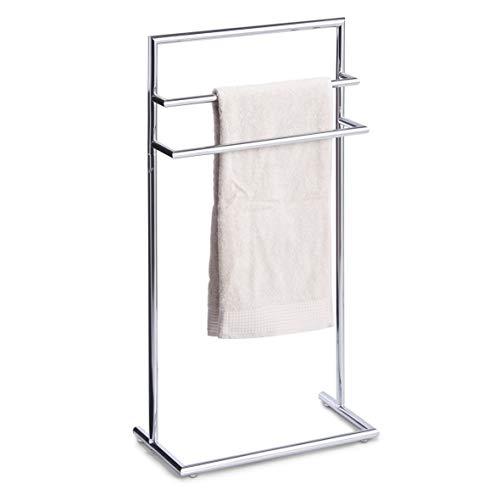 Zeller 18424 - Porta asciugamani da pavimento, cromato, 43,5 x 23 x 83 cm - 1