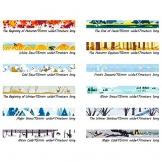 24 rotoli di nastro decorativo Washi Tape, diversi stili mascheratura nastro adesivo per scrapbooking - 1