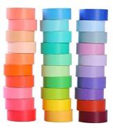 30rotoli di nastro washi tape set, colorato decorativo Washi , decorativo scrivibile Craft Washi tape for DIY Crafts Book Designsl - 1