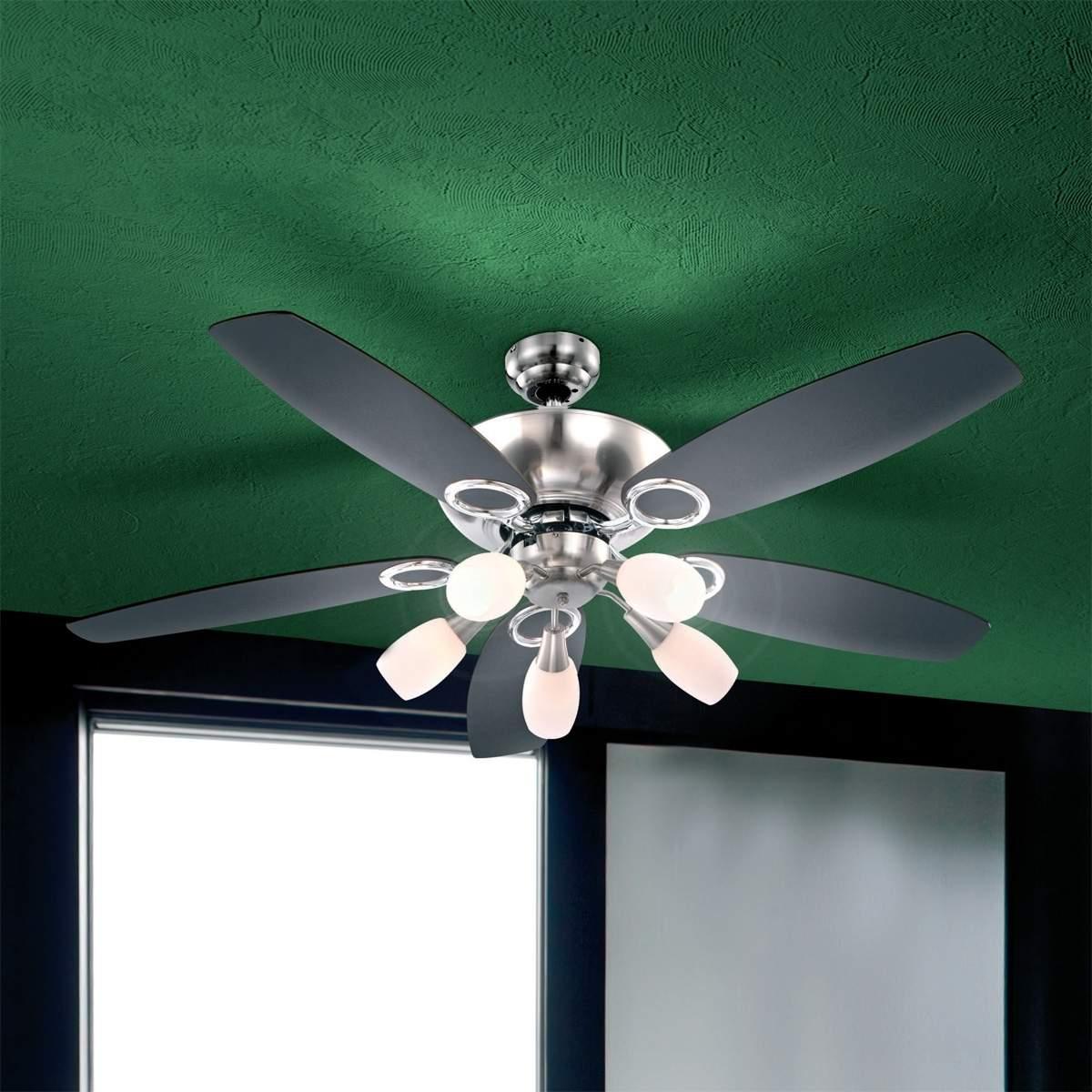 Originale ventilatore da soffitto Jerry, 5 luci Illuminazione per interni
