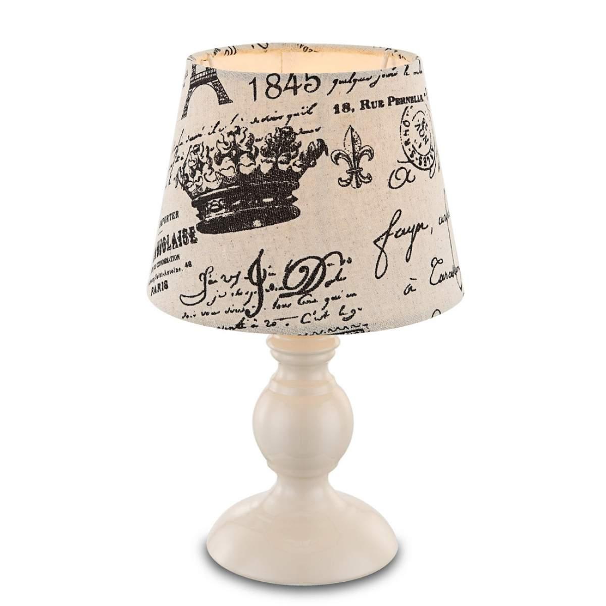 Con scritta nera – lampada da tavolo Jolanda Illuminazione per interni