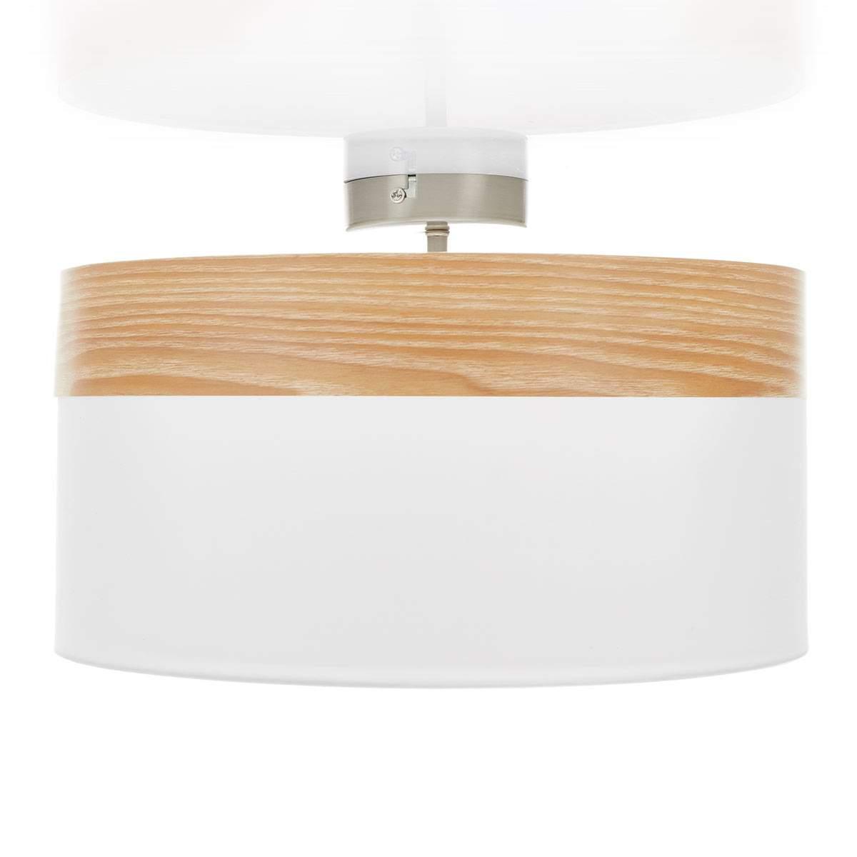 Plafoniera distanziata Libba legno-crema Illuminazione per interni