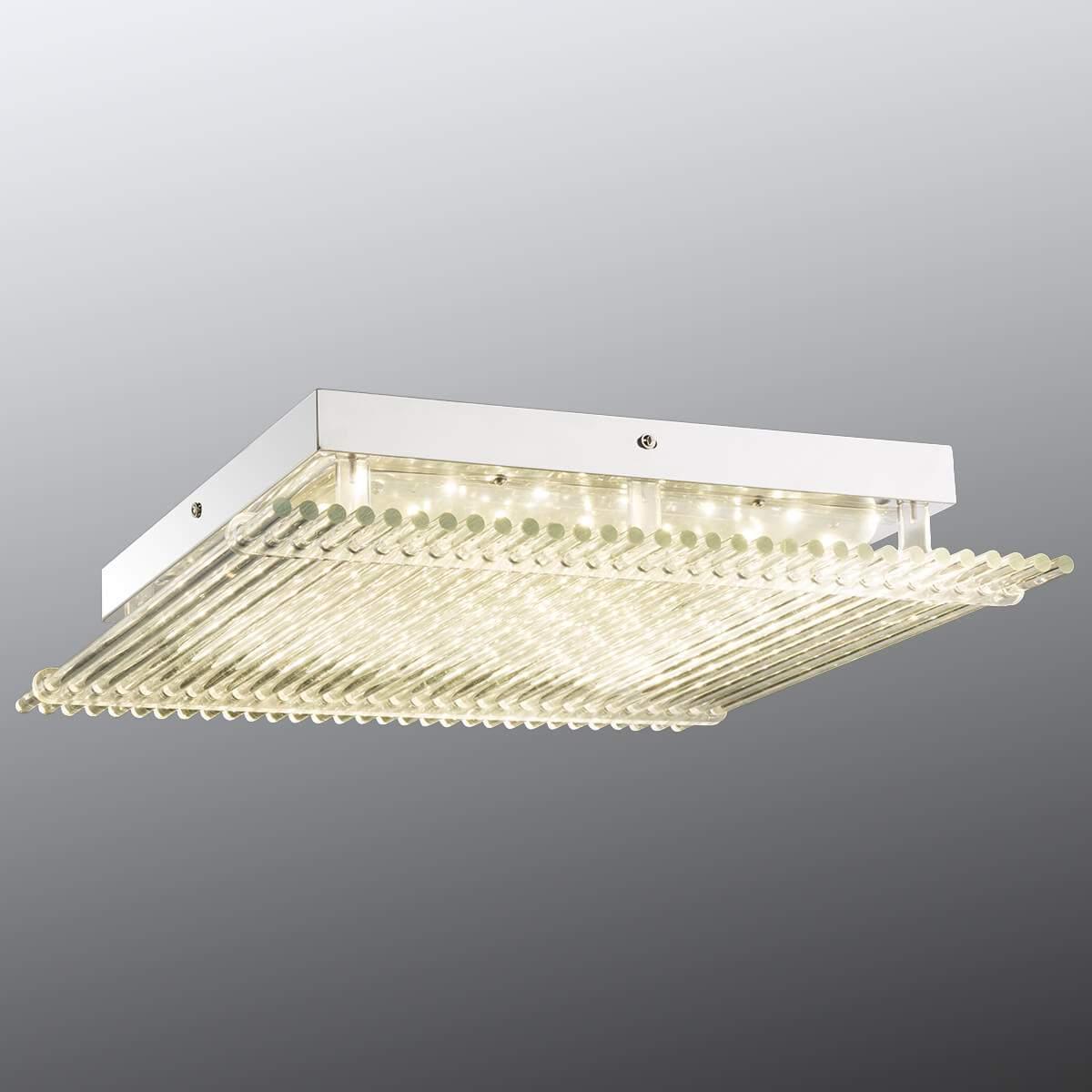 Grande plafoniera LED Hatu con vetro, 43 cm Illuminazione per interni