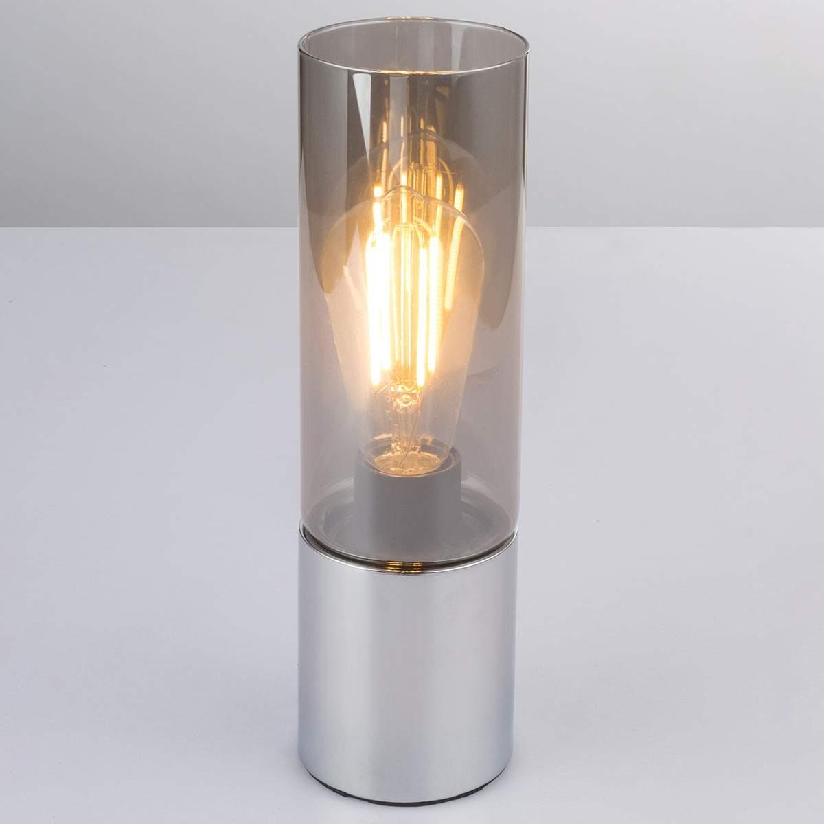 Lampada da tavolo Annika, paralume in vetro fumé Illuminazione per interni