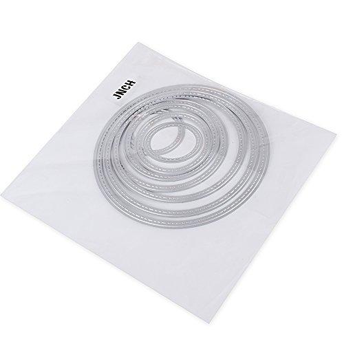 8 Pezzi Fustelle Stencil Cutting Dies per DIY Scrapbooking Album di Carta della Carta del Mestiere Biglietti per Goffratura Cerchio Fustelle - 1