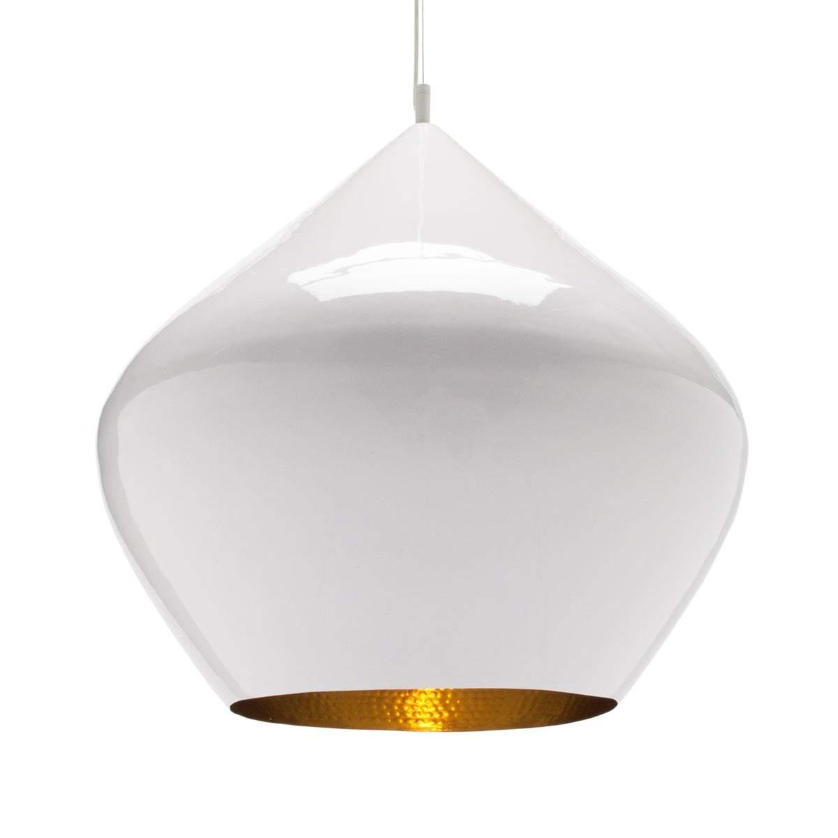 Beat Stout – lampada a sospensione bianco lucido Illuminazione per interni