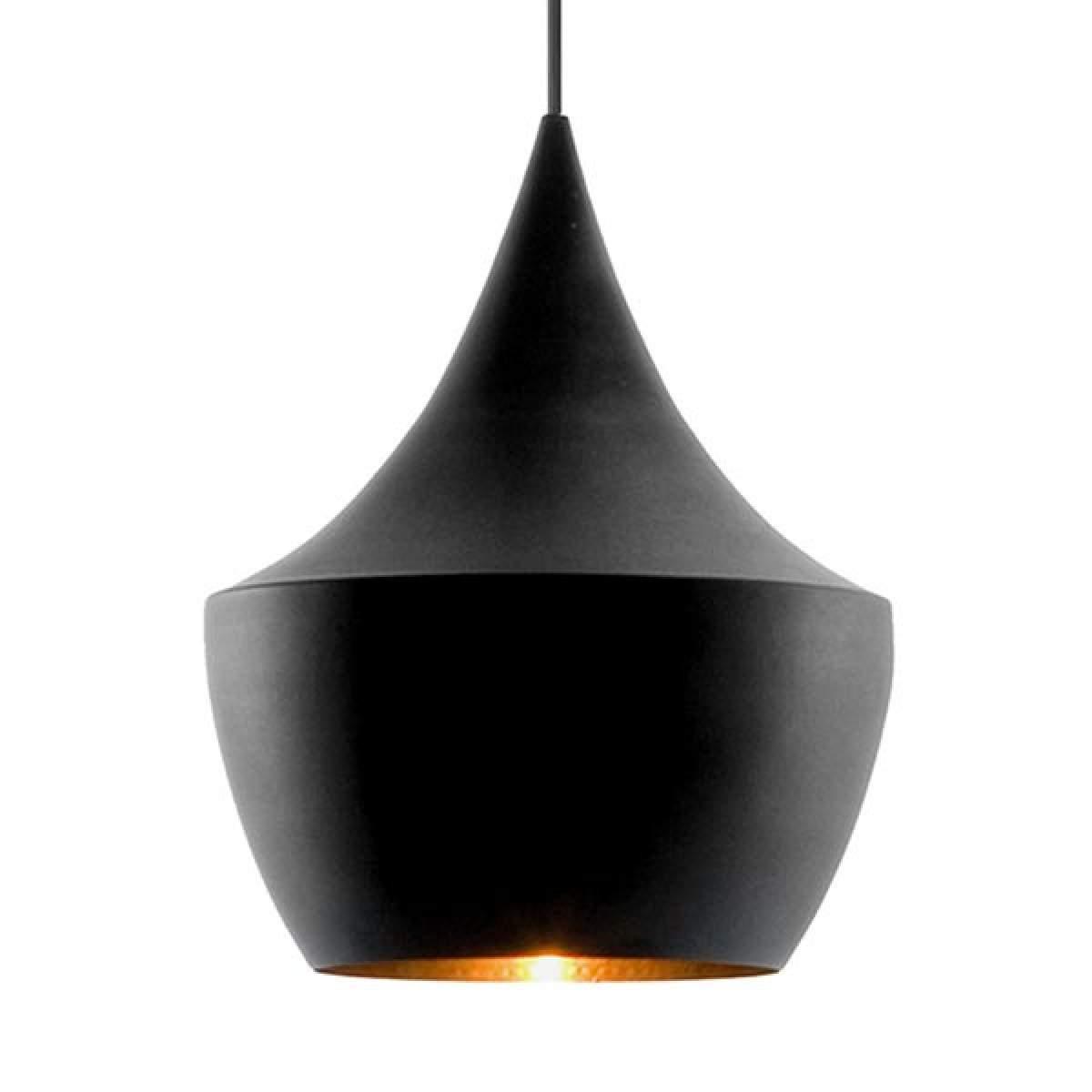 In ottone – lampada a sospensione nera Beat Fat Offerte e sconti