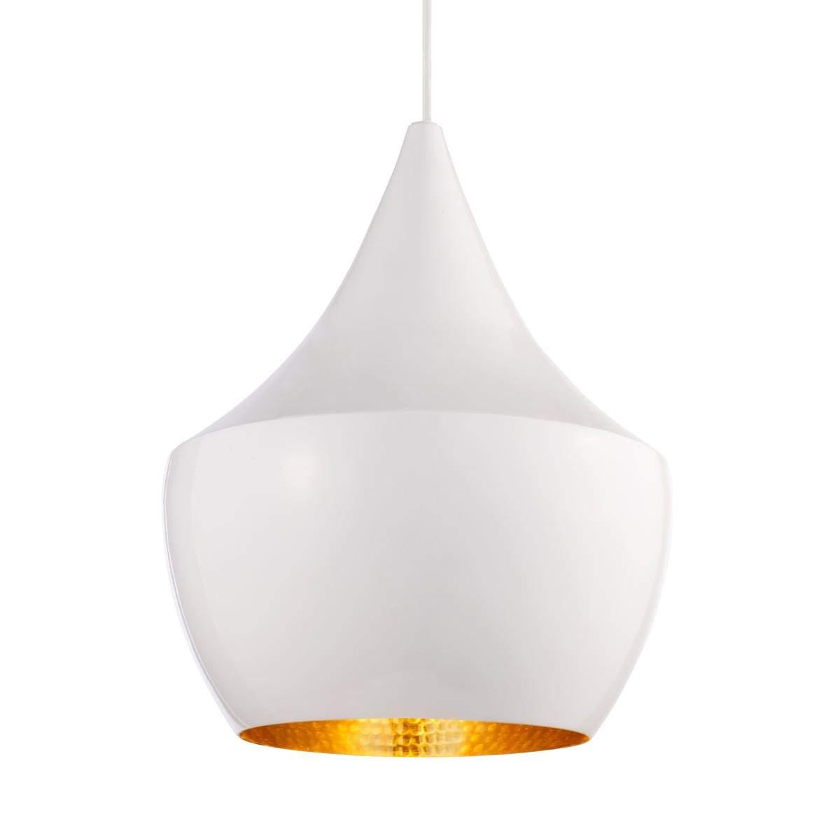 Dove acquistare In ottone – lampada a sospensione bianca Beat Fat