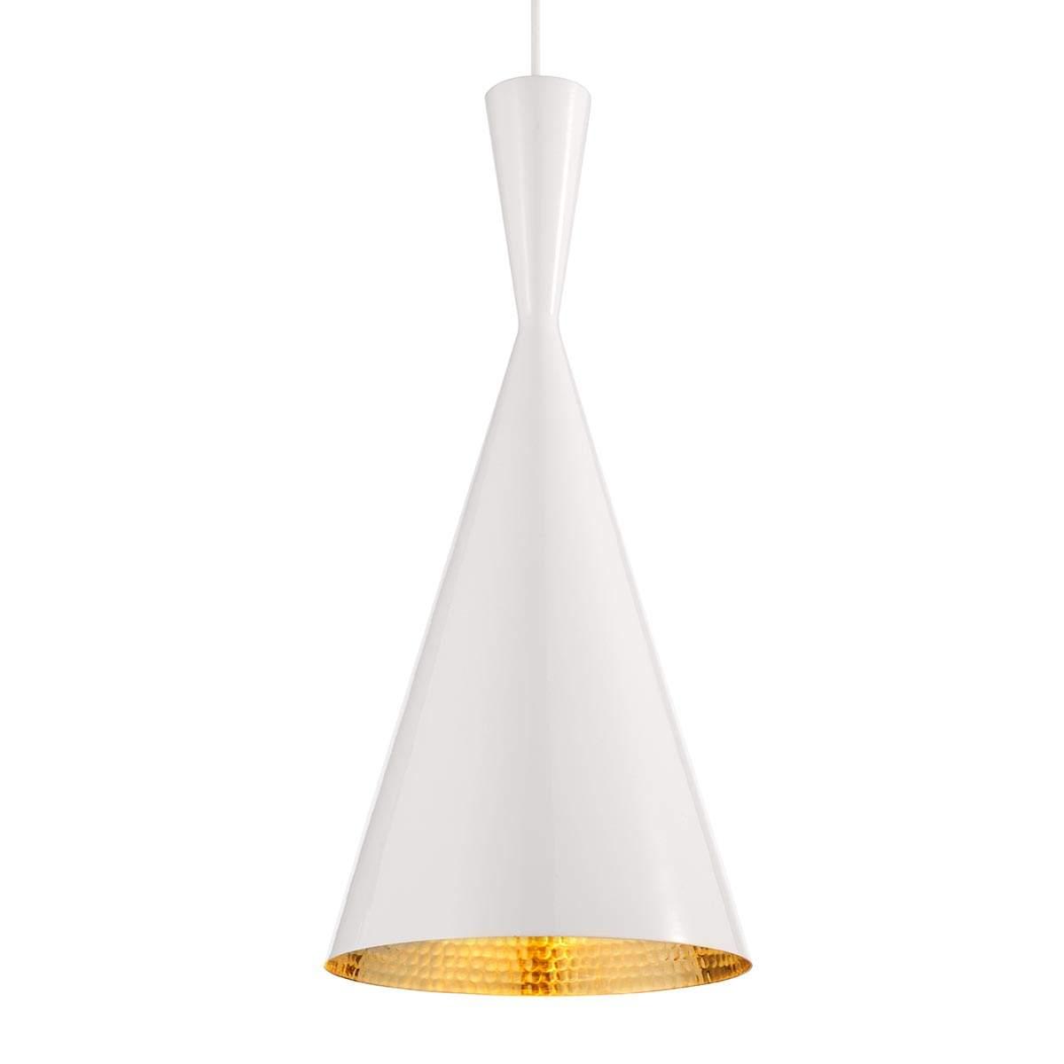 Sottile lampada sosp Beat Tall ottone bianco Offerte e sconti