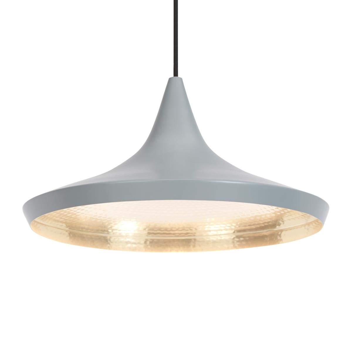 Beat Wide – lampada sosp grigia ampio paralume Illuminazione per interni