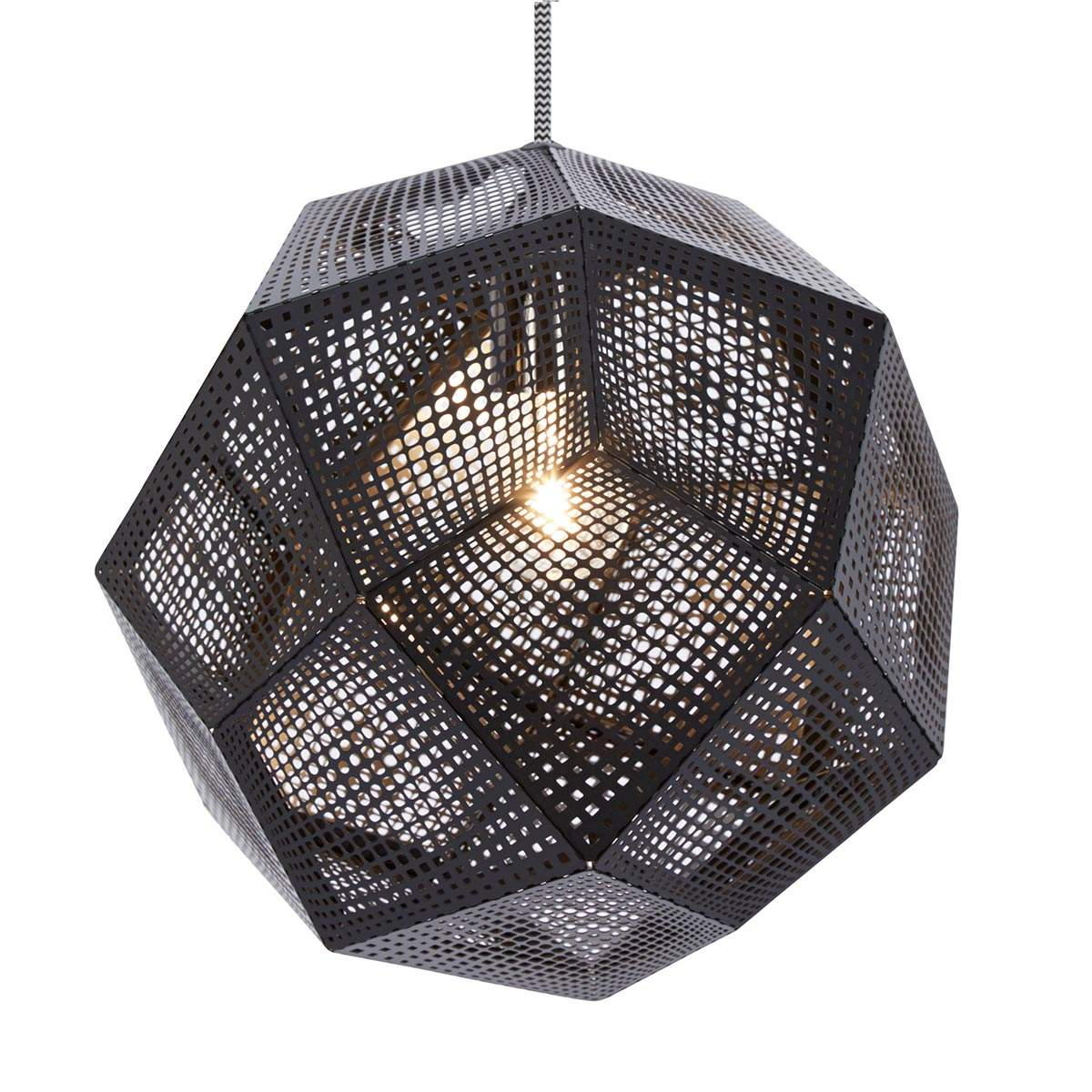 Dove acquistare Lampada sospensione forma geometrica Etch, nera