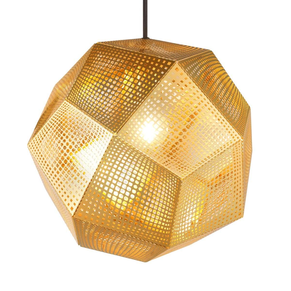 Lampada sospensione Etch forma geometrica, ottone Offerte e sconti