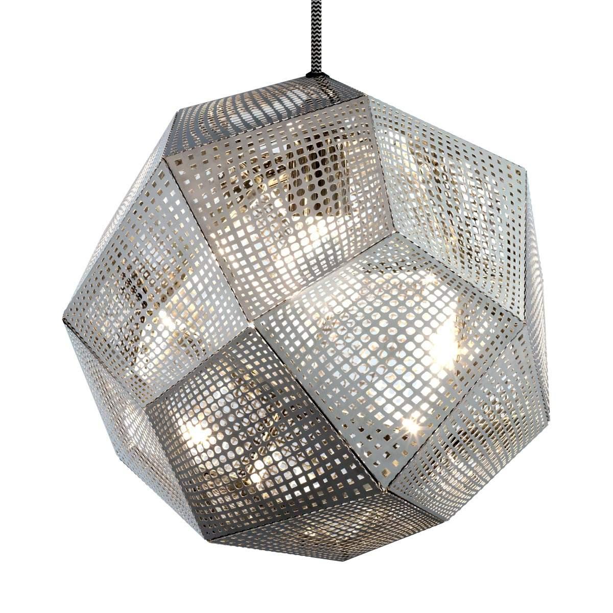 Lampada sosp Etch forma geometrica, acciaio inox Offerte e sconti