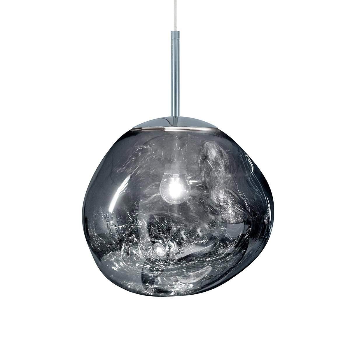 Lampada a sospensione ad effetto Melt Mini – cromo Illuminazione per interni