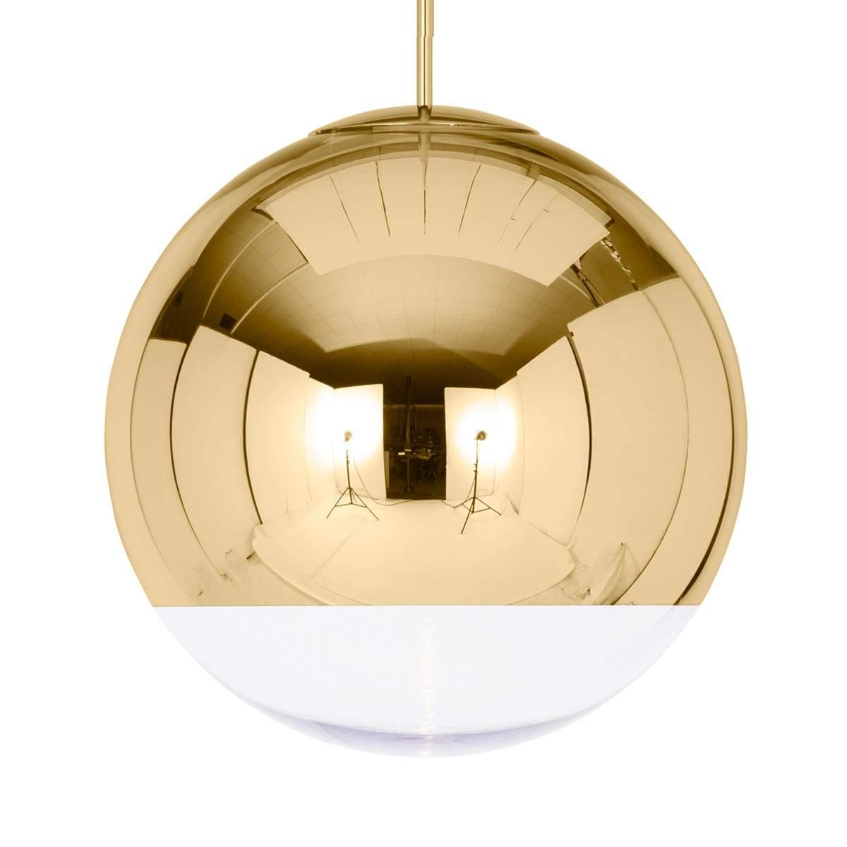 Lampada sosp dorata lucida Mirror Ball 50 cm Illuminazione per interni