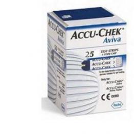 ACCU-CHEK Aviva Strisce Reattive per la Glicemia, 25 Pezzi - 1