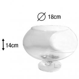 AD Centrotavola Vaso Ampolla biscottiera per confettata caramellata porta confetti in vetro trasparente cm16 X cm20h - 1