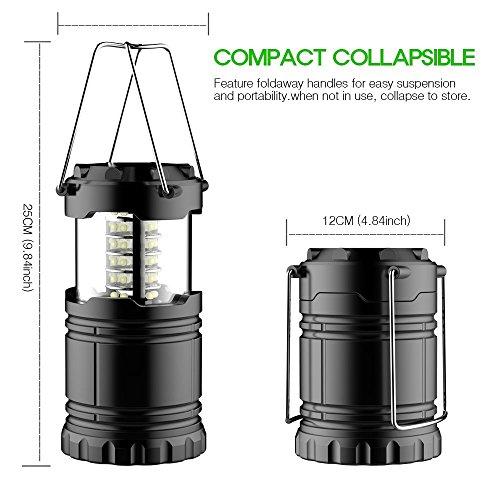 Aerb Lanterna LED Campeggio- Resistente All'acqua, Casa-Collapses -Adatto per: escursioni, campeggi, Emergenze, uragani, interruzioni - Super Bright - Leggero - 1