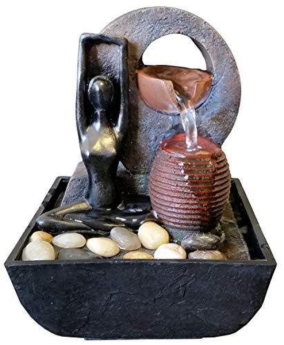 Agorà Import Fontana Zen Feng Shui in Poliresina Yoga - 1