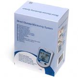 AIESI Misuratore di Glicemia completo di 50 Strisce + Penna pungidito + 50 Lancette pungidito + Custodia con chiusura zip ✔ Glucometro kit per il monitoraggio del glucosio nel sangue ✔ Made in Europe - 1