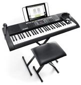 Alesis Melody 61 MKII - Tastiera Elettronica Portatile a 61 Tasti con Altoparlanti Integrati, Cuffie, Microfono, Stand, Leggio e Sgabello - 1
