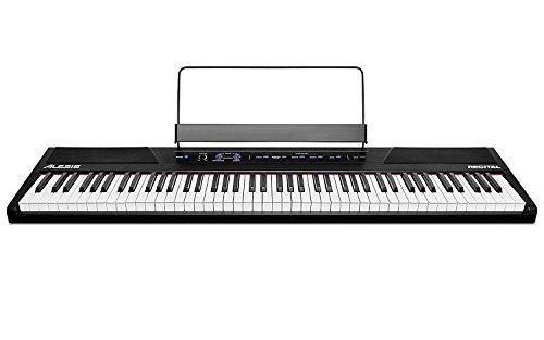 Alesis Recital - Pianoforte Digitale/Tastiera per Principianti con 88 Tasti Semipesati di Dimensioni Standard, Alimentazione, Altoparlanti Integrati e 5 Kit Suoni di Qualità (Esclusiva per Amazon) - 1