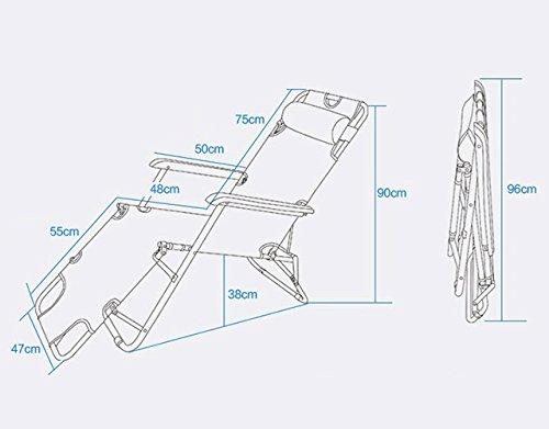AMANKA Sedia a sdraio pieghevole | Prendisole con comoda imbottitura removibile 178 cm + poggiatesta + poggiagambe + schienale reclinabile | Grigio - 1