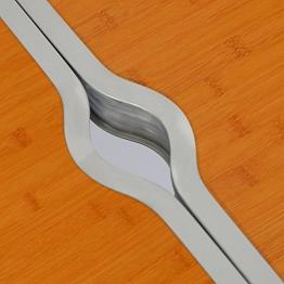 AMANKA Tavolino da pic-nic incl 4 Sgabelli Tavolo da campeggio 120x60x70cm altezza regolabile pieghevole formato valigia Bambù - 1