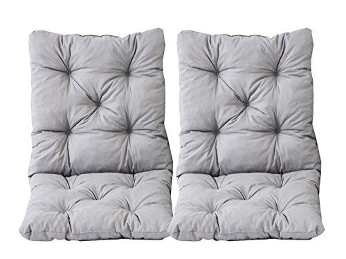 Ambientehome nbsp;–Set di 2cuscini seduta e schienale per sedia Hanko, circa 50x 98x 8cm, imbottito - 1