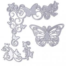 Amoy.B in Acciaio al Carbonio DIY Die Die Die DIY goffratura Die Die Fustella, Butterfly, A - 1